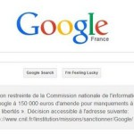 Google France forced to notify visitors of €150,000 privacy policy fine