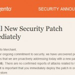 Critical Magento security patch for July 2015